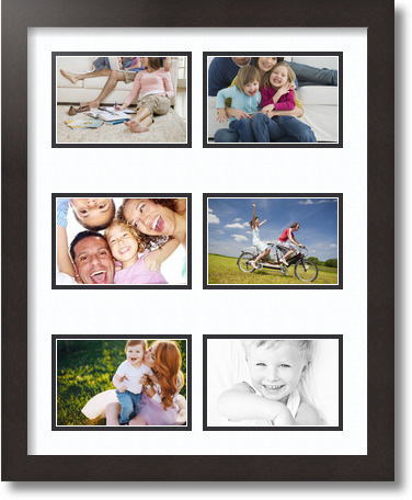 16x20 Coffee Collage Picture Frame 6 Opening Super White
