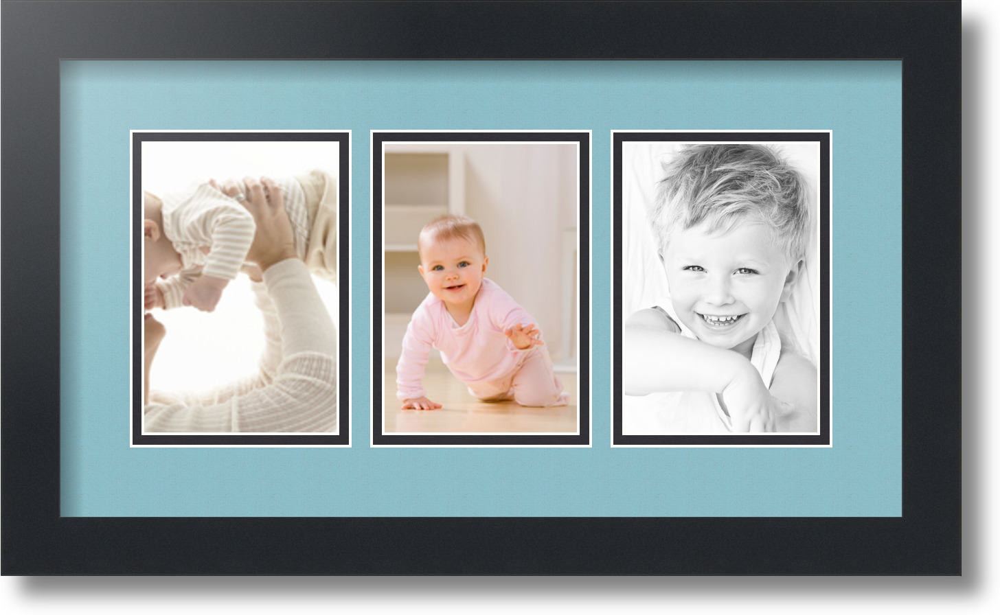 4x6 Collage Frame 3 Openings.ArtToFrames Collage Mat Picture Photo ...