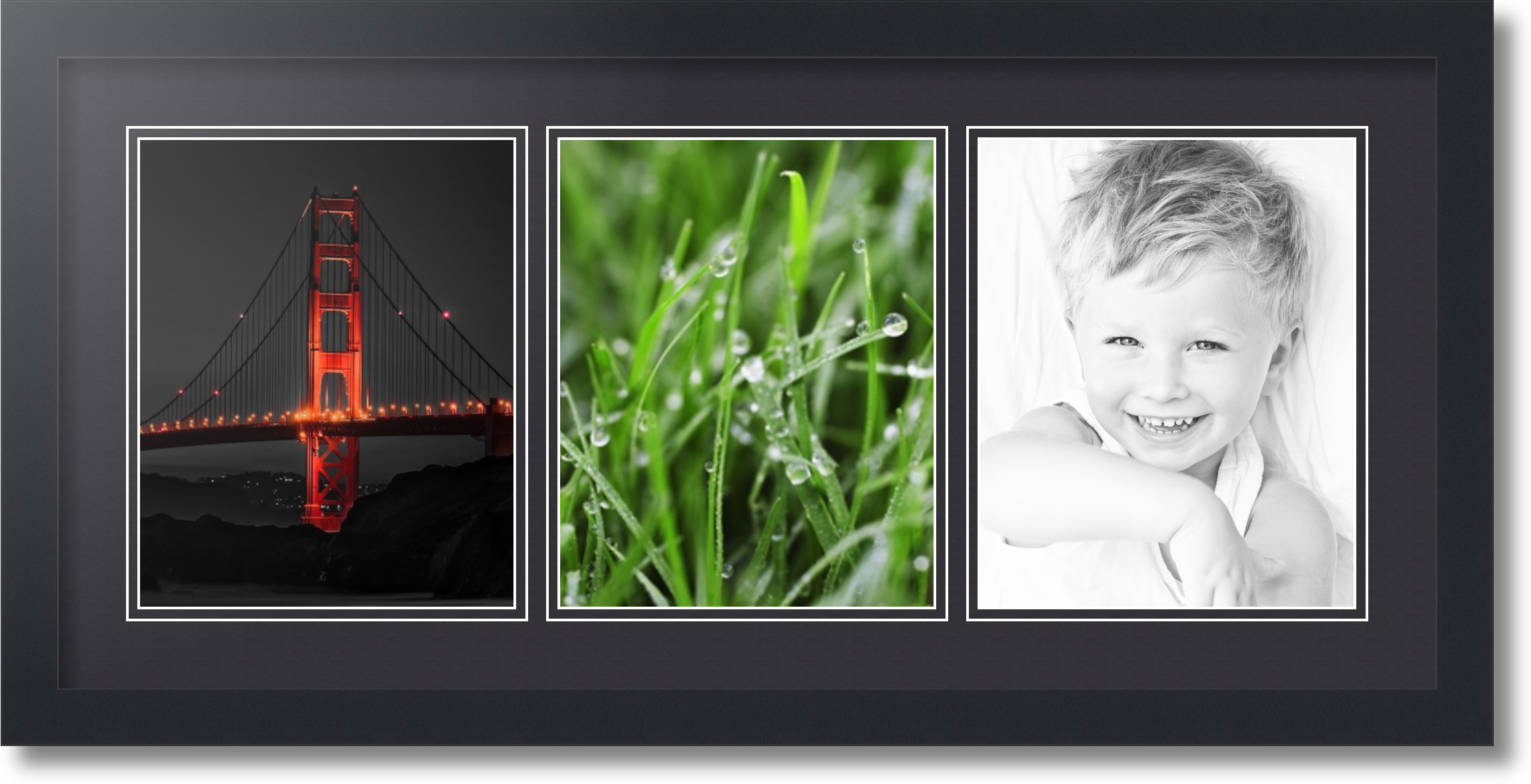 ArtToFrames Collage Mat Picture Photo Frame - 3 8x10\