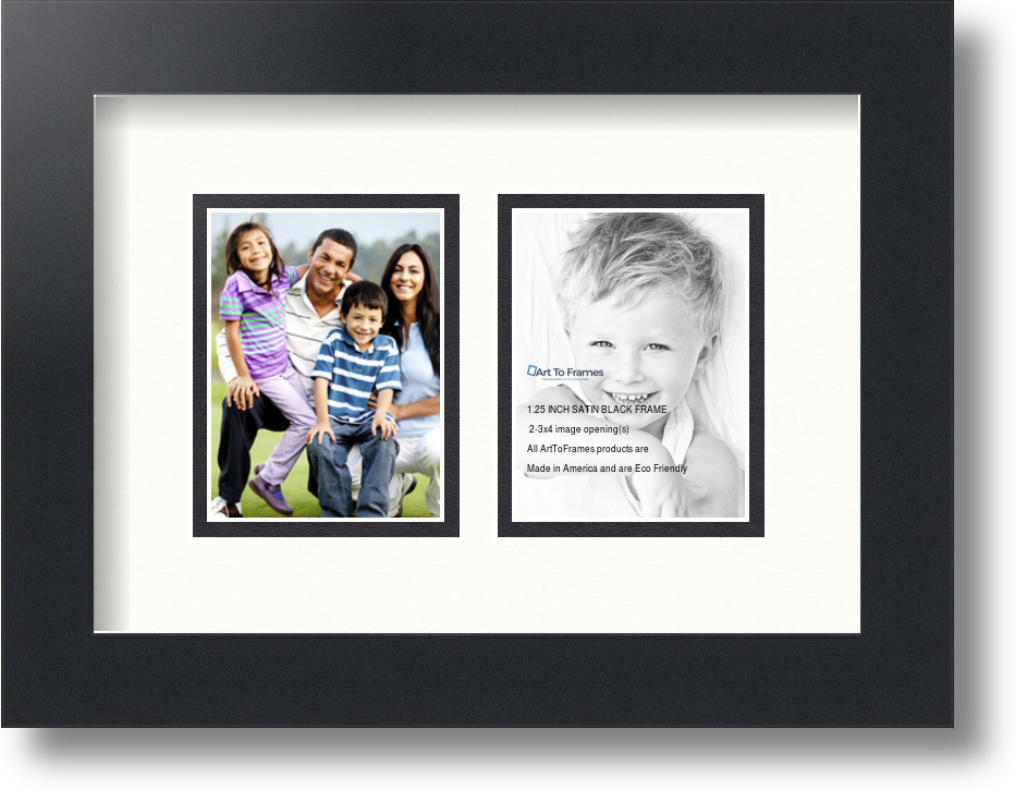 ArtToFrames Collage Mat Picture Photo Frame 2 3x4\