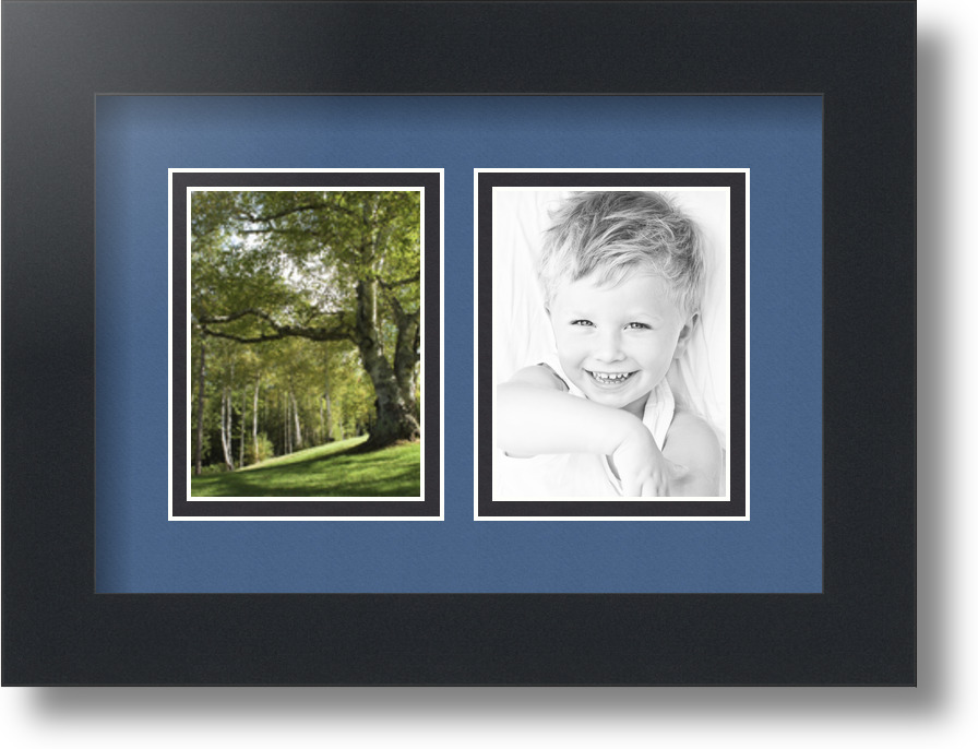 Arttoframes Collage Mat Picture Photo Frame 2 3x4 Openings In Satin