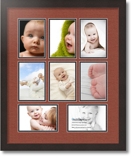 18x22 Coffee Collage Picture Frame 8 Opening Cognac And