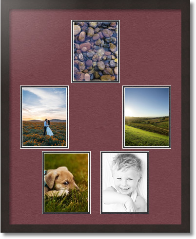 24x30 coffee collage picture frame 5 opening maple leaf