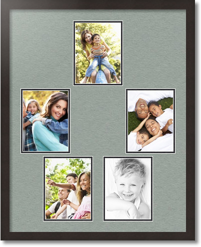 24x30 coffee collage picture frame 5 opening silverpine