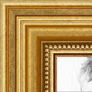 Gold Foil on Pine Collage Picture frame
