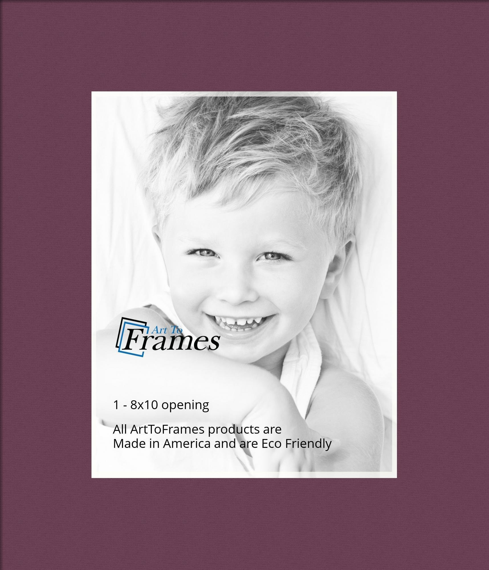 Arttoframes Custom Red Ruby Picture Photo Frame Mat Matting Board