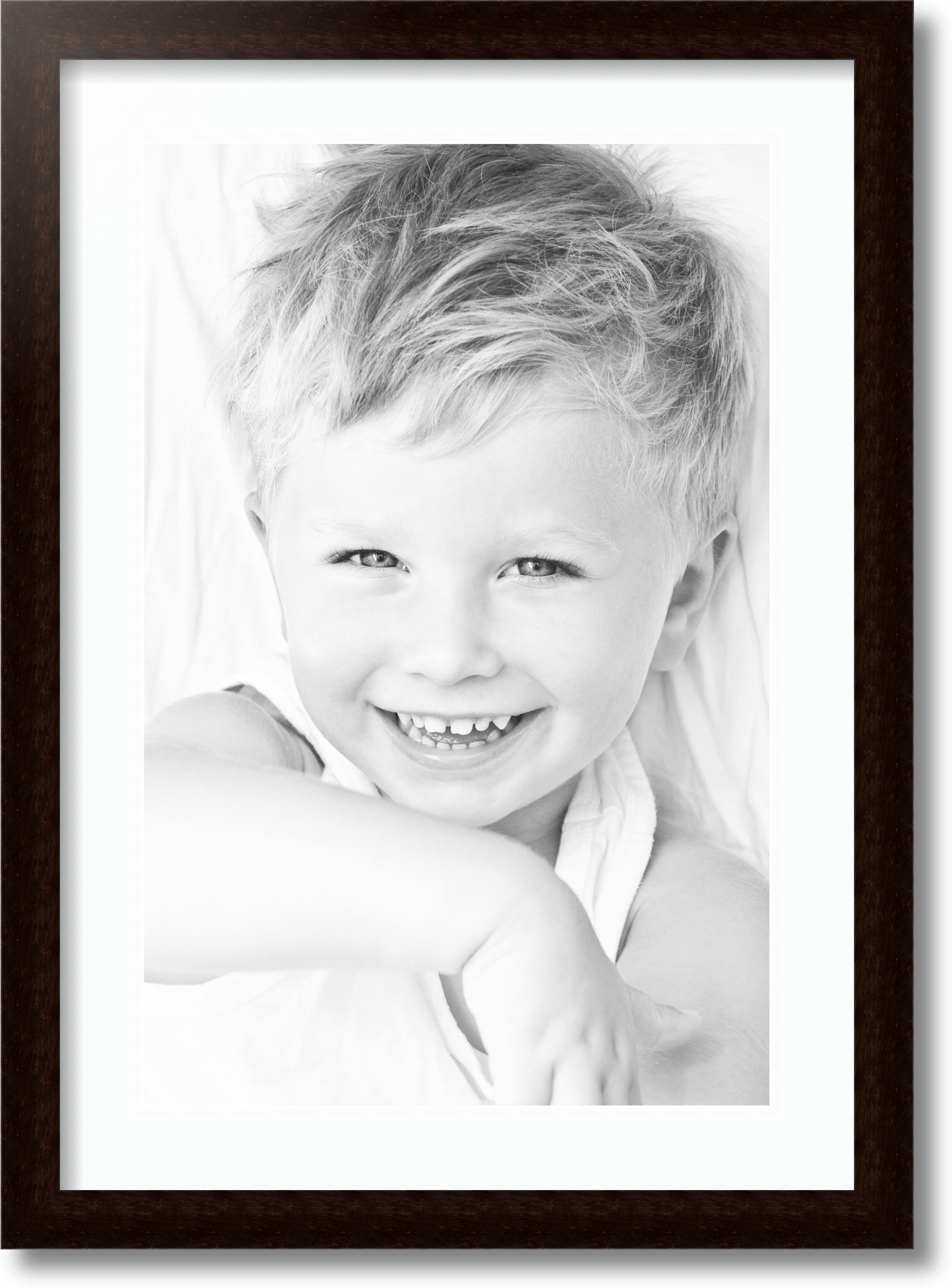 ArtToFrames 1.25-Inch Espresso Picture Frame with 4 Openings of 5 by 7-Inch and a Alabaster Top Mat and Black Bottom Mat