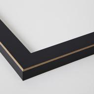 image 18x24 black satin with raw edges frame 0066 76808 890r corner closeup