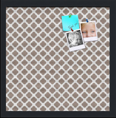 Clover Brown Custom cork board preview 16x16