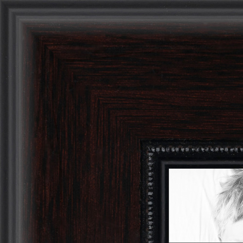 8x10 Mahogany And Burgundy With Beaded Lip Picture Frame