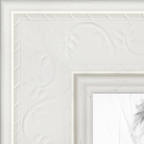 8.5x14 White Stain with Embossed Detail picture frame