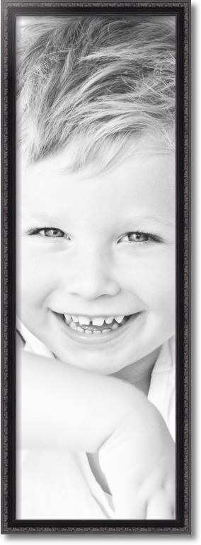 13x40 Black With Beads Picture Frame